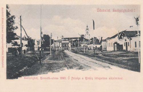 Székelyhid:Ferencz József magyar király látogatása 1890