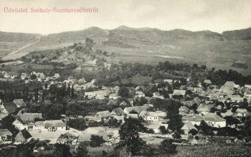 Székelyszenterzsébet:látkép,1908.