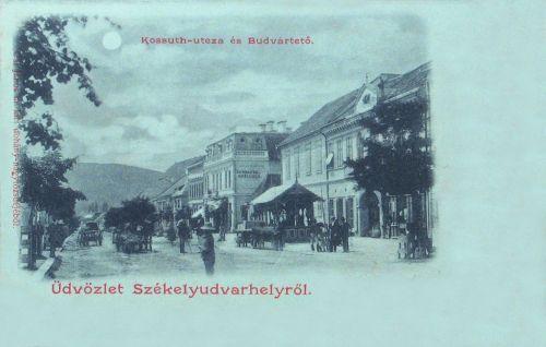 Székelyudvarhely,Kossuth utca,Budvár 1899