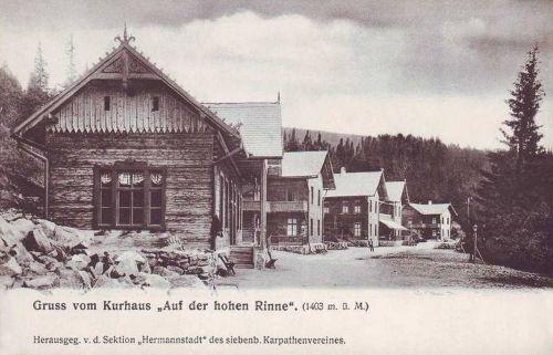 Szebenjuharos:gyógyházak 1403 méter magasságban.1905