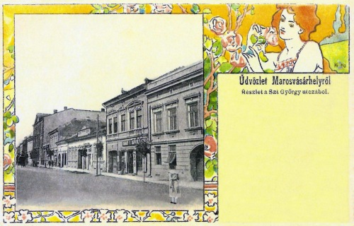 Marosvásárhely:Szentgyörgy utcai részlet (szecessziós),1901.