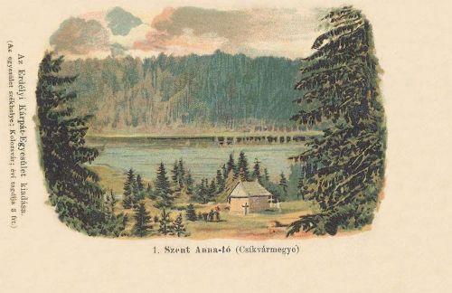 Szent Anna tó: Csik vármegye (Erdélyi Kárpát Egyesület).1899