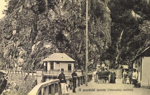 Szurduki-szoros:magyar román határ a hiddal,1910.