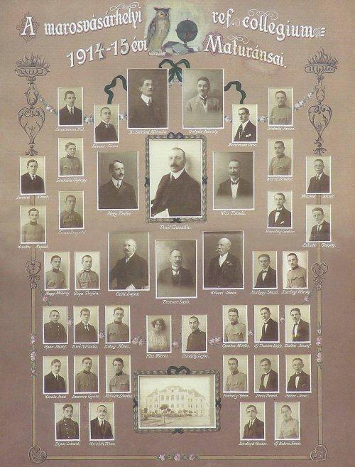 Marosvásárhelyi református kollégium végzősei 1914-1915