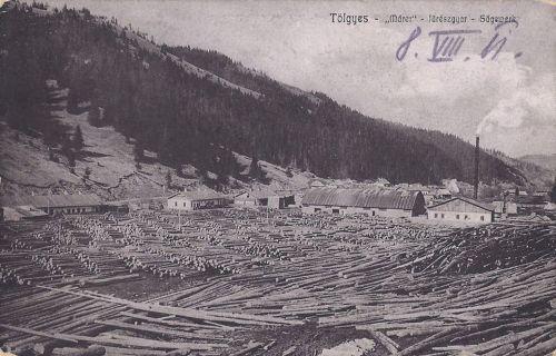Gyergyótölgyes,Marer fűrésztelep 1908