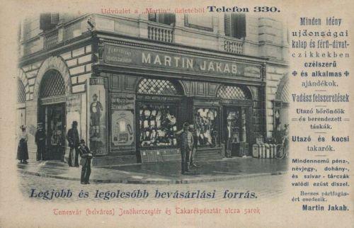 Temesvár:vadász-,divat-,kalap-,ajándék üzlet.1901