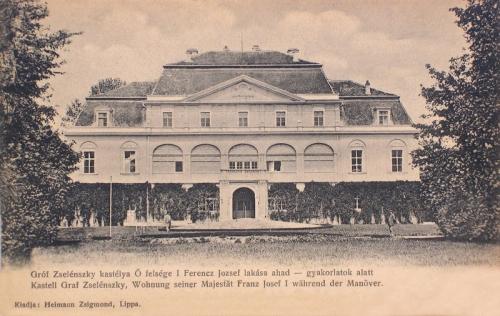 Temesújfalu:gróf Zselénszky kastély,Ferencz József lakása a hadgyakorlaton.1904