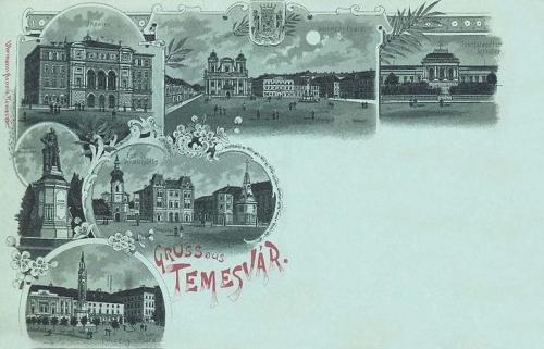 Temesvár-Temeswar-Timisoara:kőnyomat. 1898