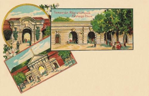 Temesvár:régi várkapuk.1900