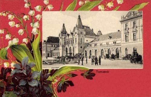 Temesvár:vasútállomás.1901