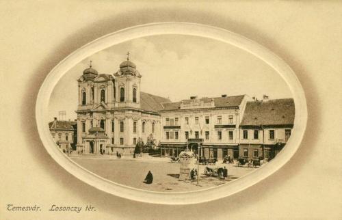 Temesvár:Losonczy tér a templommal.1912