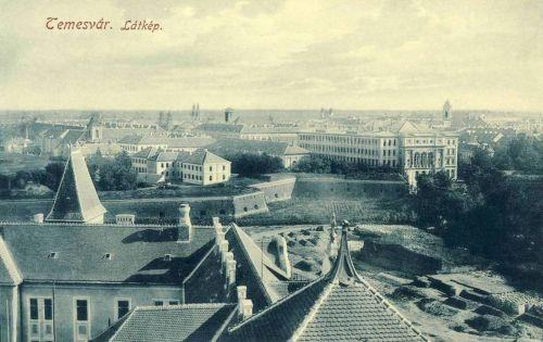 Temesvár:látkép a várral és a szinházzal.1912
