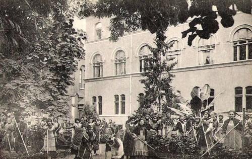 Temesvár,Iskola Nővérek Intézete:kerti részlet. 1911