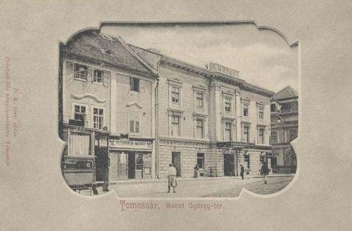 Temesvár:Szent György tér,Hotel és kávéház.1902