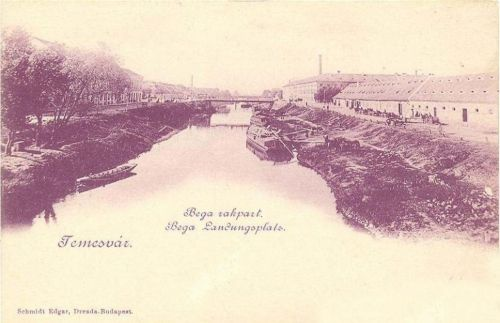 Temesvár:Béga rakpart.1899