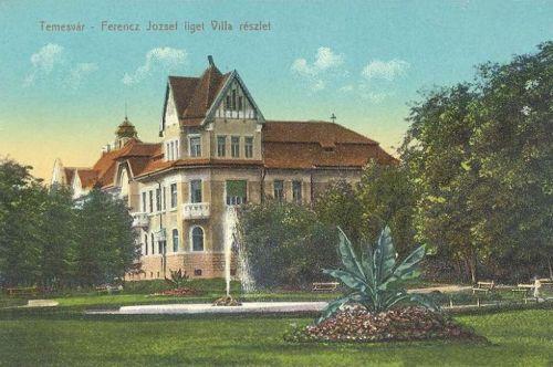 Temesvár:Ferencz József liget,villa.1914