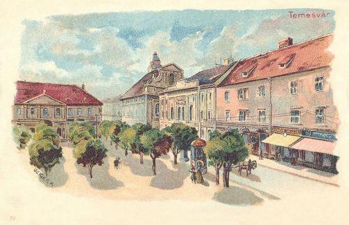 Temesvár:Jenő herceg tér.1899