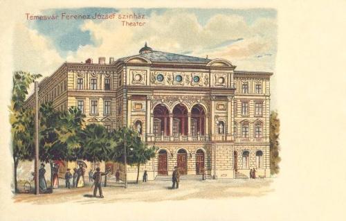 Temesvár:Ferencz József szinház,kőnyomat.1899