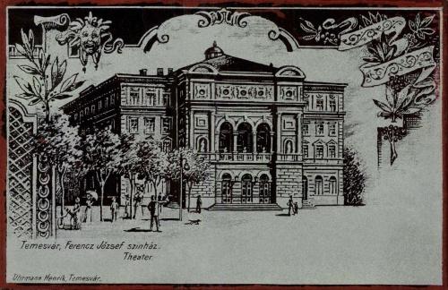 Temesvár:Ferenc József szinház,(ezüst kőnyomat),1899.