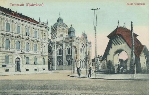 Temesvár:zsidó templom.1910