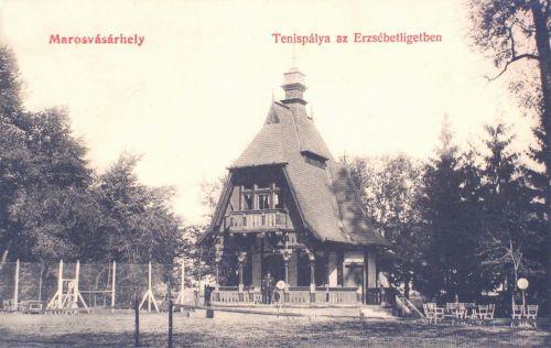 Marosvásárhely:teniszpálya az Erzsébet ligetben.1908