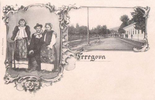 Terregova:népviselet és Fő utcai részlet.1899
