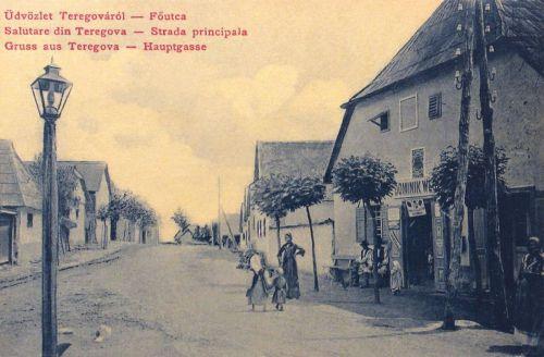 Teregova:fő utca az üzlettel.1907