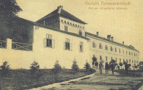 Régi vár a 62 gyalogezred laktanyájával,1907.
