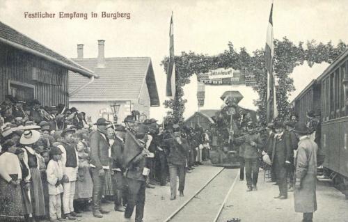 Vurpód:vasútállomás felavatási ünnepsége,1910.
