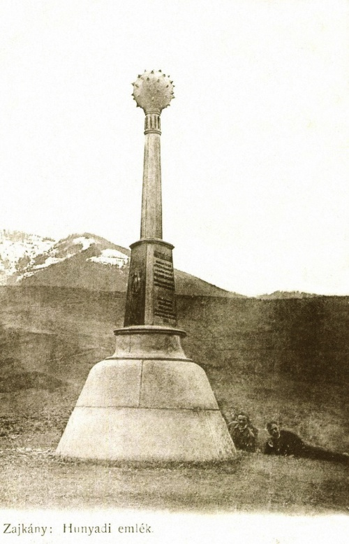 Zajkány:Hunyadi János emlékmű (1455),1905-ben.