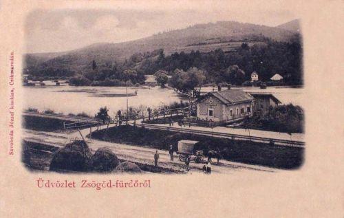 Zsögöd-fürdő:vasút állomás.1904