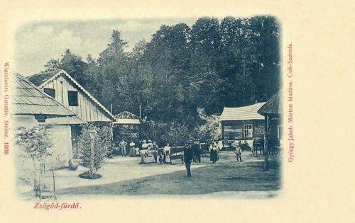 Zsögöd-fürdő,bejárat 1900