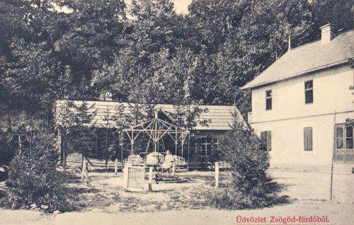 Zsögöd-fürdő:park.1910