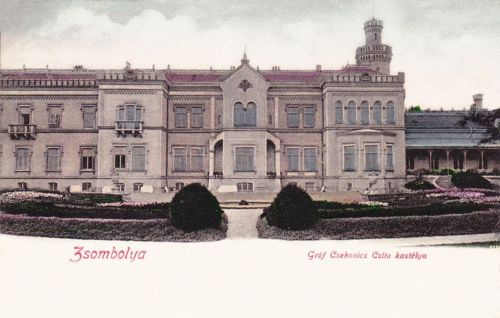 Zsombolya:gróf Csekonics Csitó kastélya.1903
