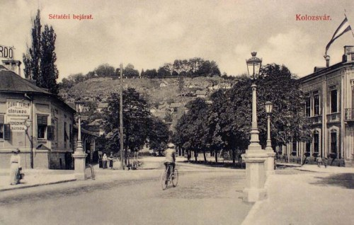 Kolozsvár:Sétatér bejárat,Gőzfürdő-uszoda.1911