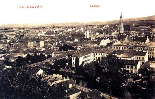 Kolozsvár:kilátás a Fellegvárból.1910