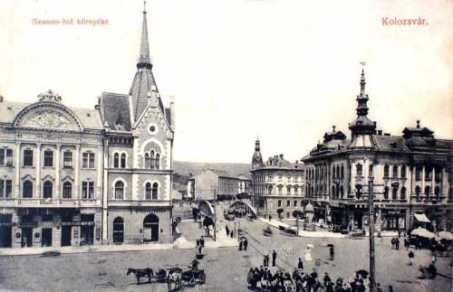 Kolozsvár:Szamos hid környéke.1910