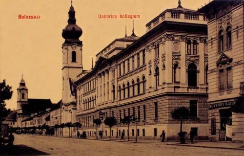 Kolozsvár:unitárius kollégium és templom.1908