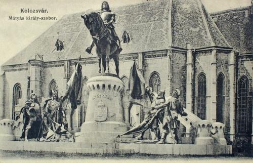 Kolozsvár:Mátyás király szobra.1905