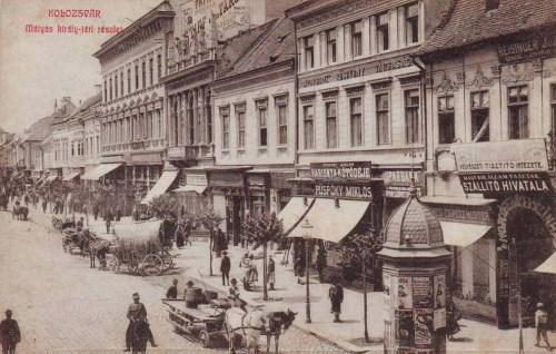 Kolozsvár:Mátyás király tér,Ipar Bank.1909