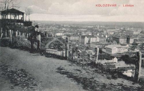 Kolozsvár:látkép a Fellegvárról.1910