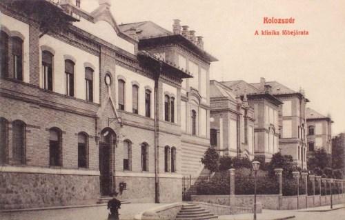 Kolozsvár:Klinika főbejárata.1909