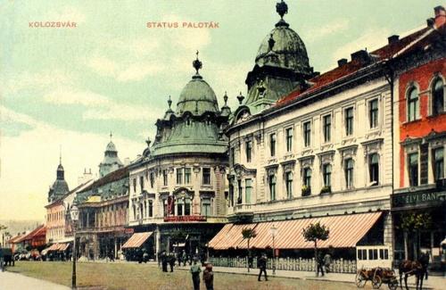 Kolozsvár:Status paloták,Erdélyi Bank.1909