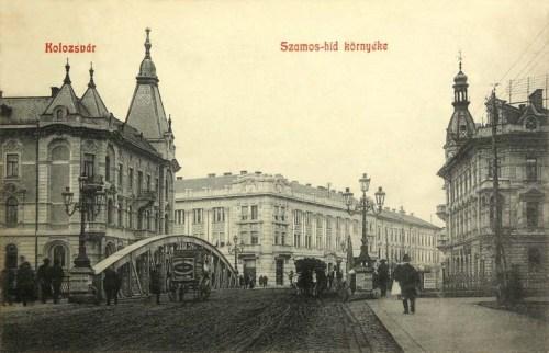 Kolozsvár:Szamos hid környéke.1908