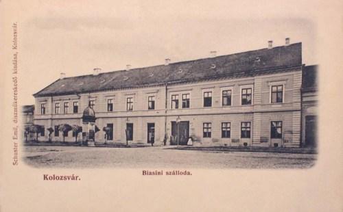 Kolozsvár:Biasini szálloda.1904