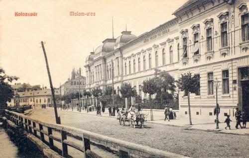Kolozsvár:Malom utca,polgári fiu iskola.1908