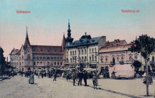 Kolozsvár:Széchenyi tér.1908