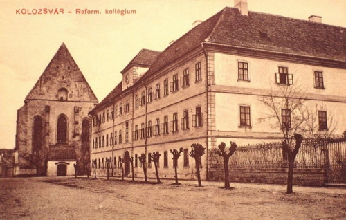 Kolozsvár:református kollégium és templom.1911