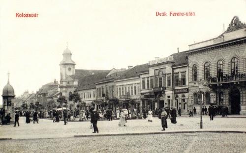 Kolozsvár:minoriták temploma ,jobbra városháza.1908