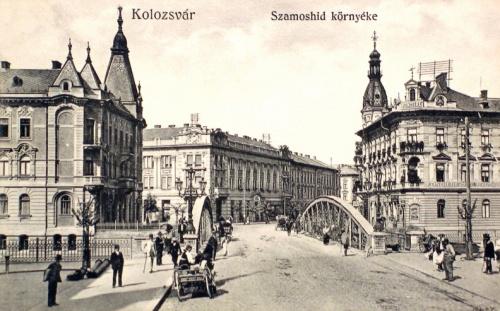 Kolozsvár:Szamos hid környéke.1914